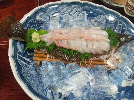 Flounder served on flounder.
