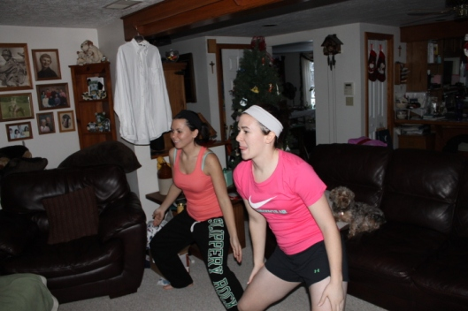 Including the minutes that consisted solely of laughing hysterically at my sisters doing zumba on our Kinect.