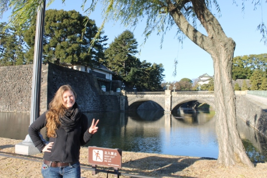 Near Nijubashi, the bridge to the Imperial Palace