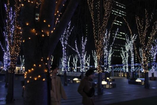 Outside the Saitama Super Arena, a winter wonderland (even sans snow).
