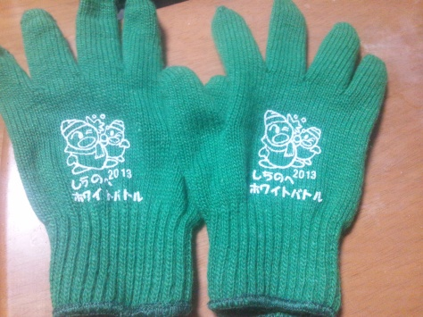 But at least we all got souvenir gloves with the requisite adorable Japanese mascot on them!