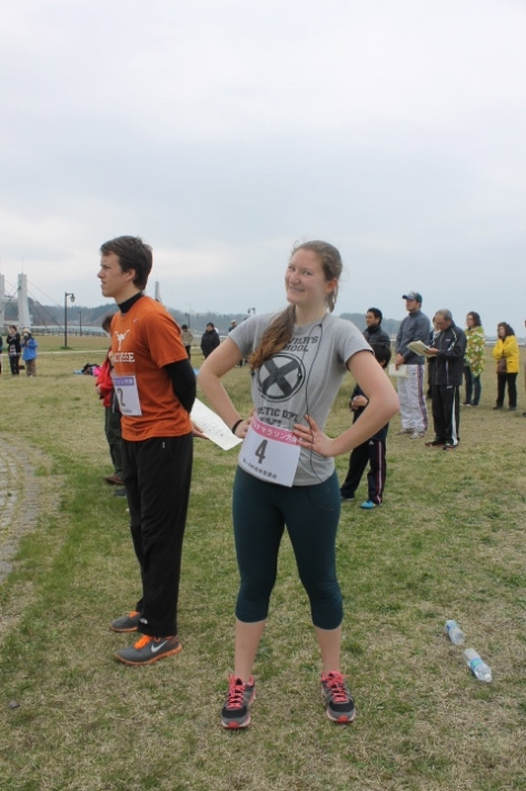 Surprising that I look this merry after the race. Probably five minutes before this was taken, I was lying spread-eagle on the ground.