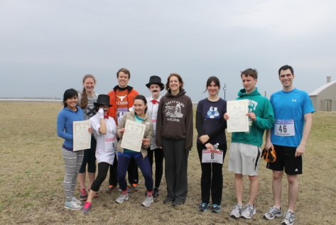 The runners of the Hamanasu Marathon.