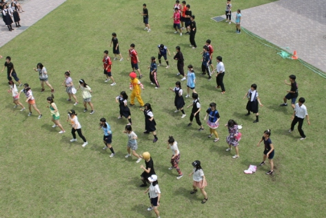 "Japanese high schools...the only place where you'll get Ronald McDonald and company dancing to ""Dancing Queen."""