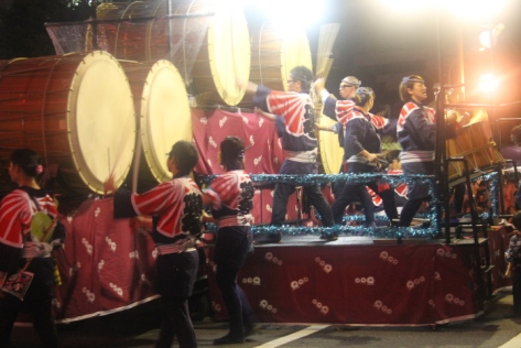 It's not a Japanese festival unless huge drums are involved.