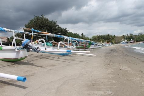 The stretch of Senggigi Beach