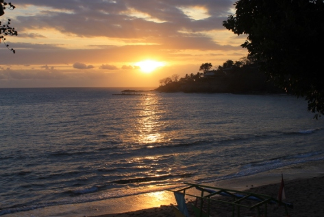 The sunset from Senggigi Beach.