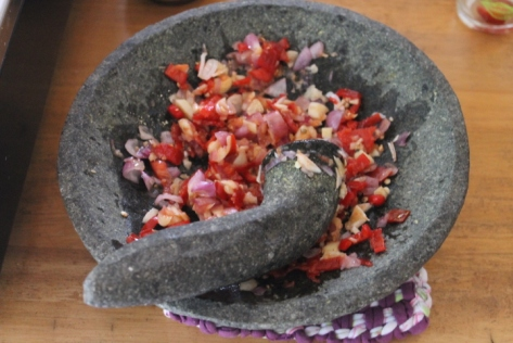 When I make any of these dishes at home, I will definitely just be using my food processor. Using a mortar and pestle might look cool and feel authentic, but it takes FOREVER.