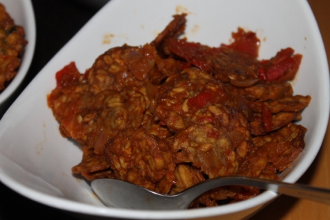 Fried tempeh manis