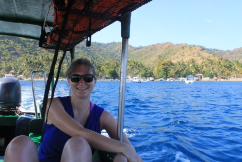 On the boat from Lombok to Gili Meno.