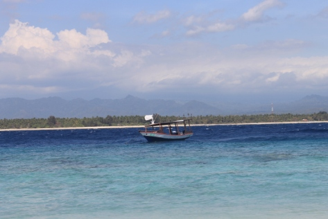 The waters surrounding Gili Meno.