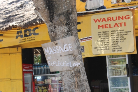 Downtown Kuta provided plenty of entertaining signs.