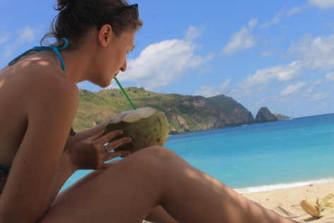 I discovered that I liked the idea of drinking out of a coconut, rather than the actual taste of it.
