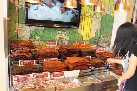 Dried meat was also a pretty popular fare.