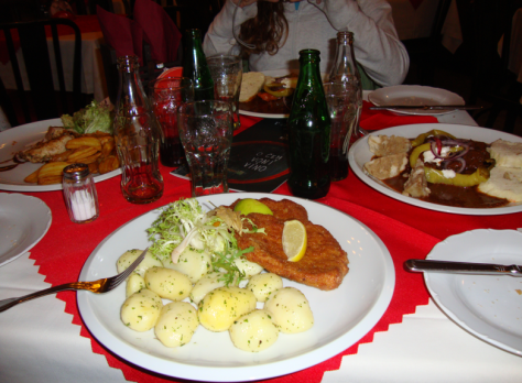 Standard Czech fare: meat and starch.