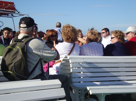That ferry ride was particularly memorable because of a rowdy group of singing Italians.
