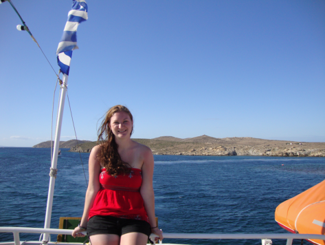 On the ferry from Mykonos.