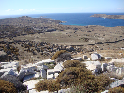 From the top of Kynthos, looking over the rest of the island.