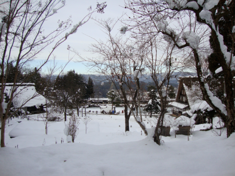 The view of the mountains from Hida Minzokumura.