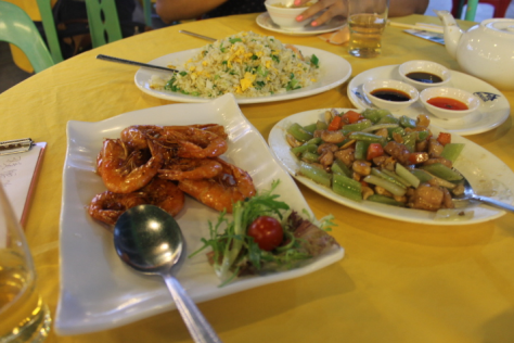 We ate at the well-known Rainbow Restaurant in Sok Kwu Wan, and got this massive spread for three people for about eight dollars each.