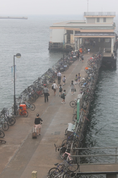 People head to the mainland every morning for school and work.