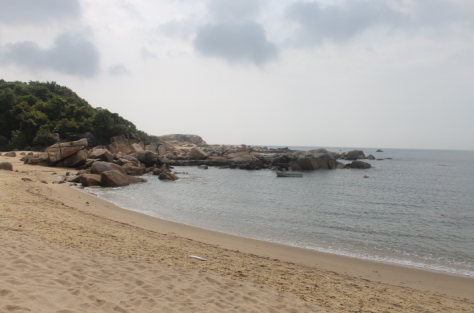 I worked up quite a sweat in the Hong Kong humidity, but having a beach to myself made it all worth it.