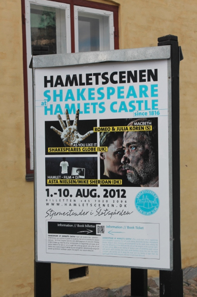 Much to my disappointment, I'd missed the end of the famous Shakespeare festival, which features both international and Danish troupes, by one day.