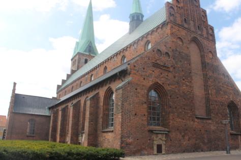 The massive red-brick Helsingør Domkirke (cathedral).
