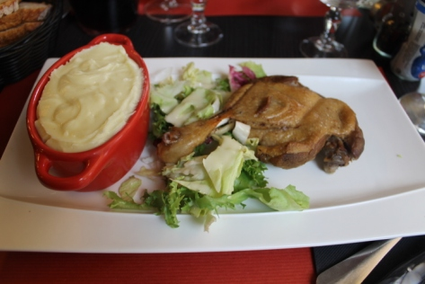 Aligot and confit de canard