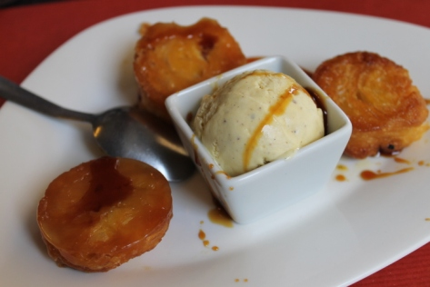 Kouign-amann, served with vanilla ice cream...because, really, this dish needed more sugar.