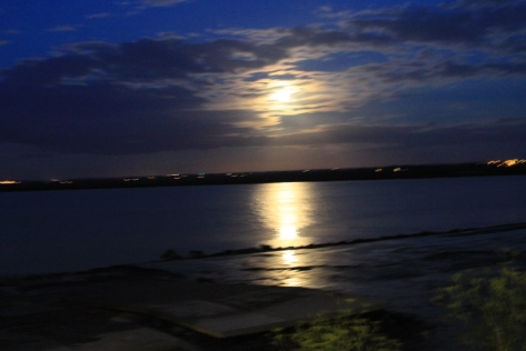 """The full moon gave me a good reason to use one of my favorite untranslatable words, too: mångata, which is a Swedish term that means """"a road-like reflection on water caused by the moon."""""""