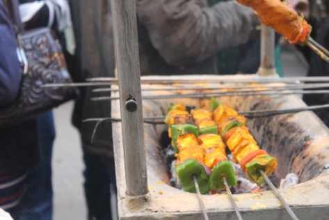 Next up, paneer (cheese curd) and vegetable kebabs. A perfect complement to the lighter dishes beforehand.