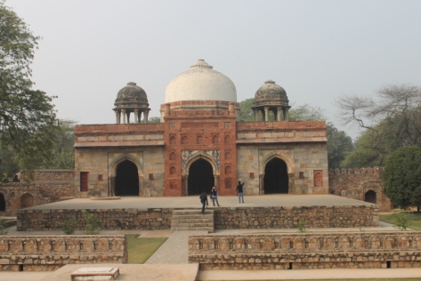 Afsarwala (Officer's) Tomb, which flanks Isa Khan's tomb
