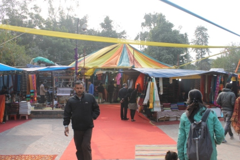 The open-air market at Dilli Haat.
