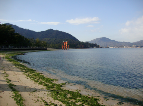 The famous floating torii of Miyajima