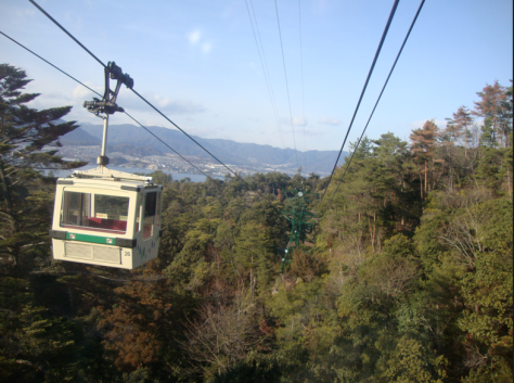 The ropeway provides some gorgeous views of the island.