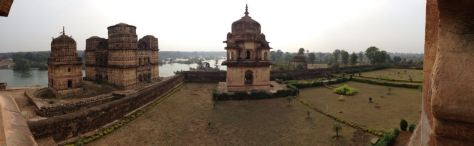 A panorama of a few of the cenotaphs.