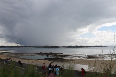 Here comes the rain.