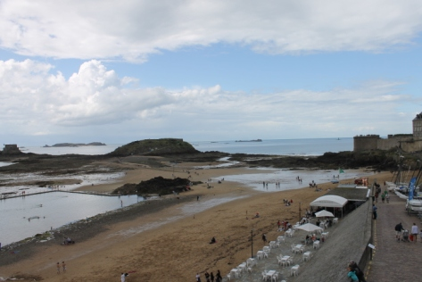 The view of the sea from the walls around Saint-Malo