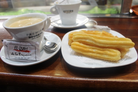 Coffee and churros, the perfect start to a breakfast.