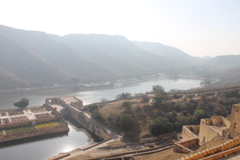 The view from the Sun Gate overlooking Maota Lake. How'd you to have coffee every morning on that floating terrace?