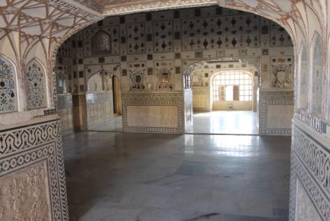 The mirrors of Sheesh Mahal