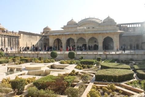One of the inner verdant courtyards.