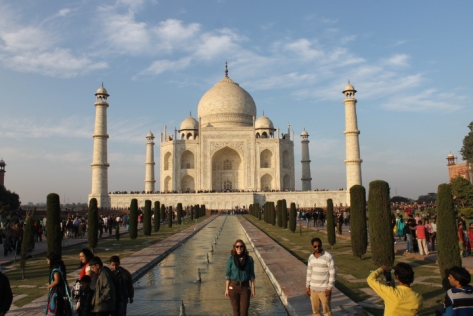 The Taj Mahal in Agra