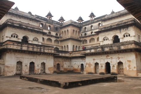 One of the inner courtyards of Raj Mahal