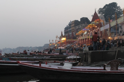 Along the banks of the Ganges