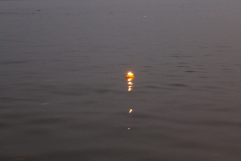And there went my wish, carried away by the currents of the Ganges.