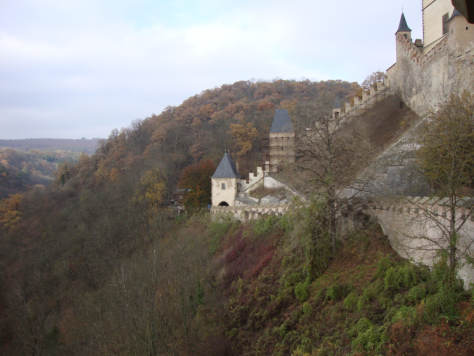 On the outer walls of Karlštejn