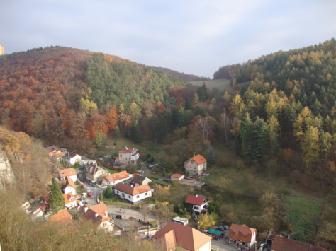The town below Karlštejn