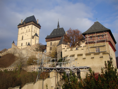 Naturally, it was being renovated. (What European castle isn't?)